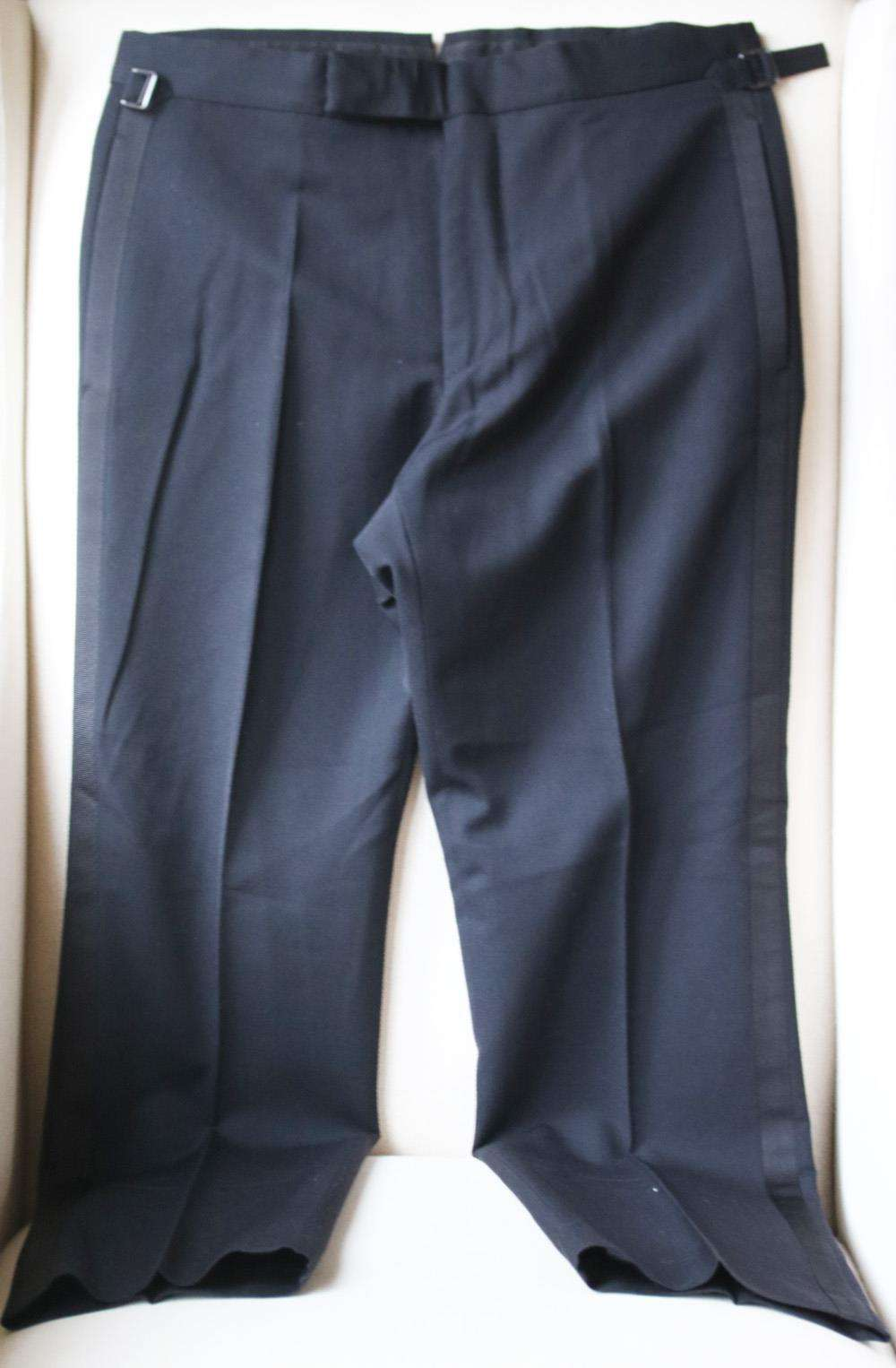 TOM FORD WOOL AND MOHAIR BLEND GRAIN DE POUDRE TROUSERS IT 46 UK/US 30