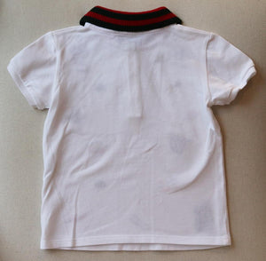 GUCCI BABY BOYS COTTON POLO SHIRT 24 MONTHS