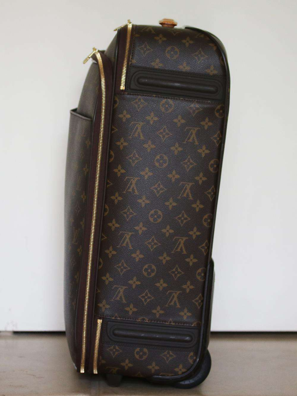LOUIS VUITTON PERSONALISED PÉGASE LÉGÈRE 55 BUSINESS MONOGRAM CANVAS SUITCASE