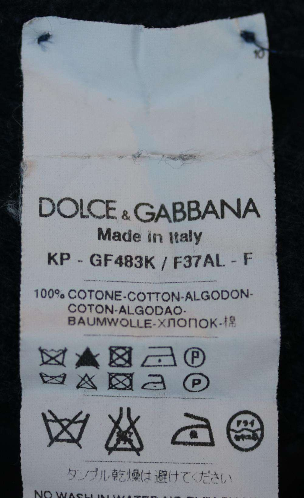 DOLCE AND GABBANA TEXTURED COTTON POLO SHIRT IT 46 UK/US 36