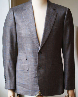 THOM SWEENEY CHECK WOOL BLEND JACKET IT 46 UK 36
