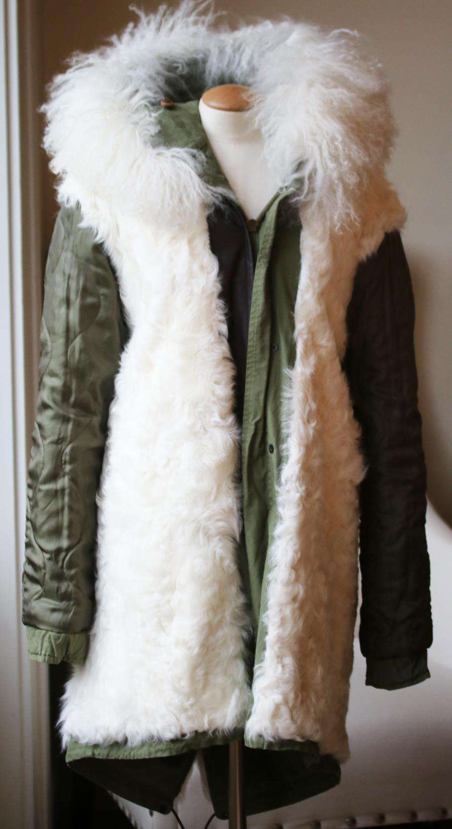 MR AND MRS ITALY SHEARLING LINED COTTON CANVAS PARKA XSMALL