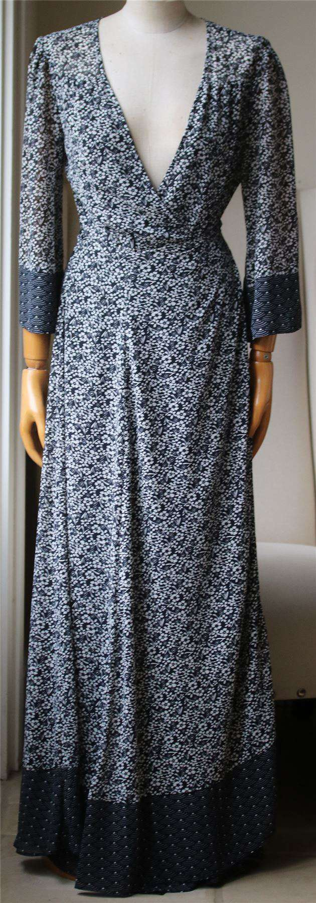 TULAROSA JOLENE FLORAL PRINT WRAP MAXI DRESS MEDIUM