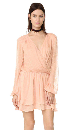 FREE PEOPLE DAHLIA WRAP MINI DRESS MEDIUM