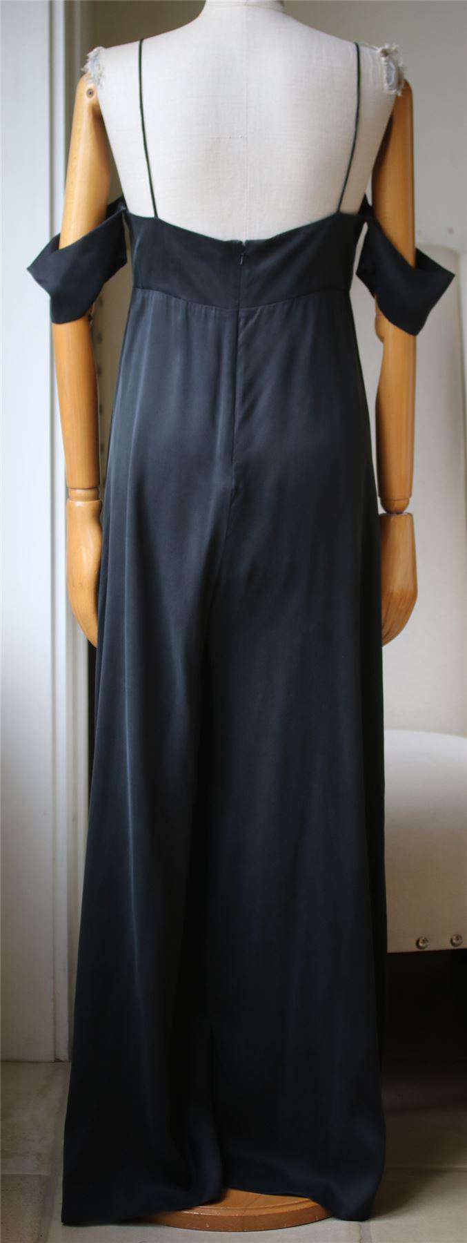 ZIMMERMANN COLD SHOULDER WASHED SILK JUMPSUIT UK 12