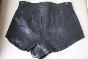 ARE YOU AM I BAMBI LEATHER SHORTS SMALL
