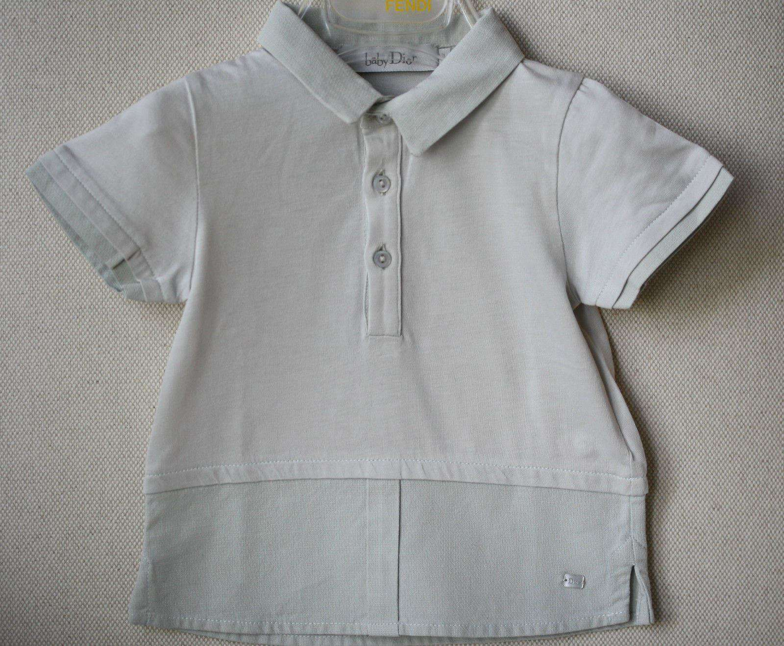 BABY DIOR COTTON AND LINEN SHIRT AND TROUSERS OUTFIT 3 MONTHS