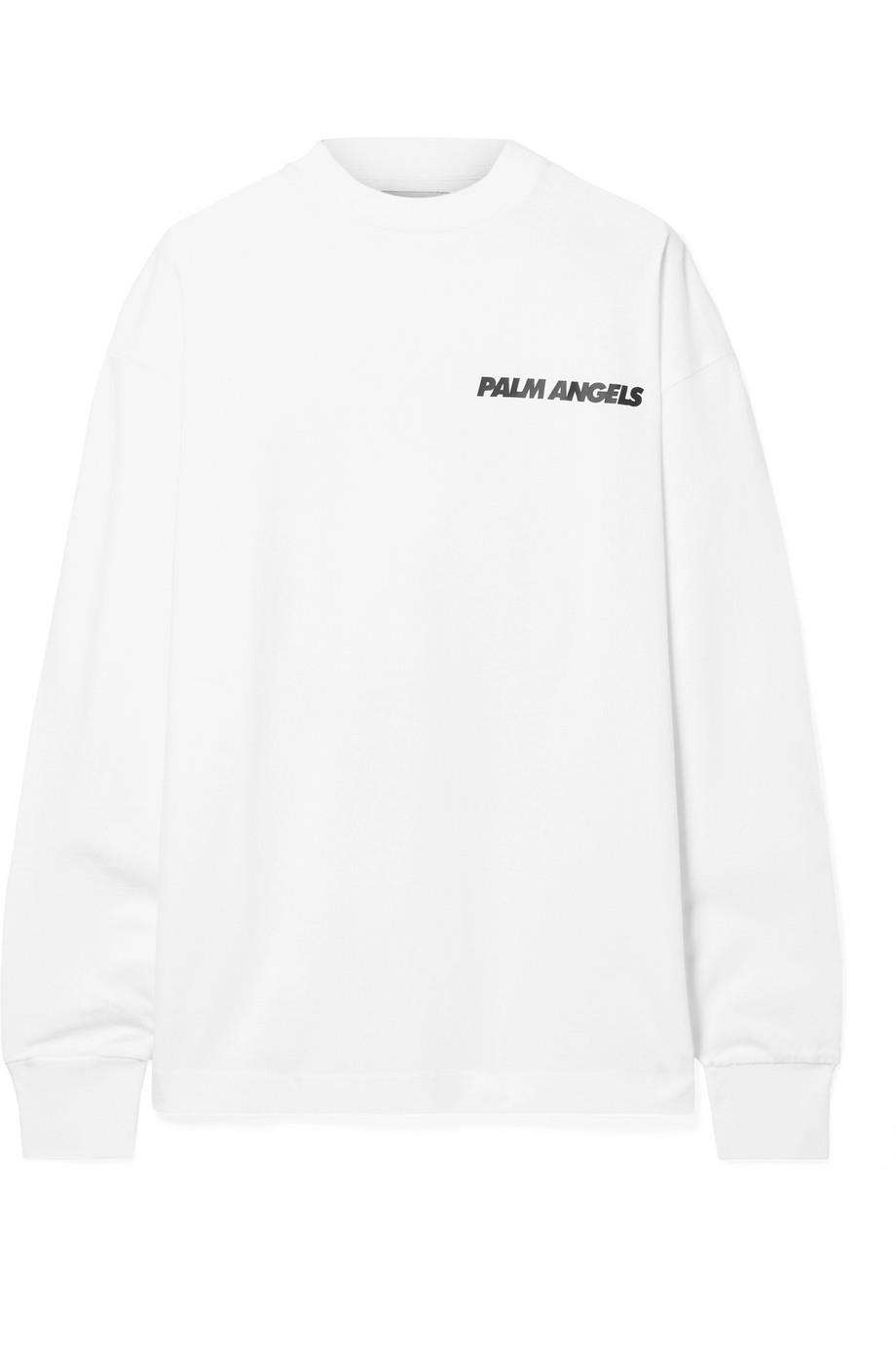 PALM ANGELS OVERSIZED PRINTED COTTON JERSEY TOP LARGE