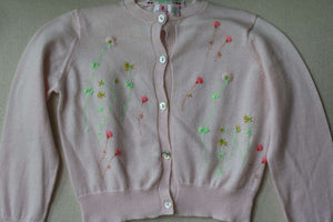 BONPOINT BABY GIRLS EMBROIDERED CARDIGAN 3 YEARS