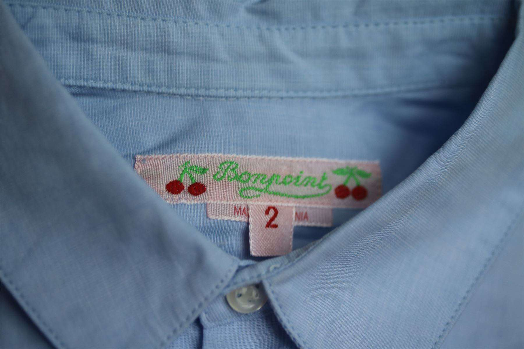 BONPOINT BABY BLUE SHIRT 2 YEARS
