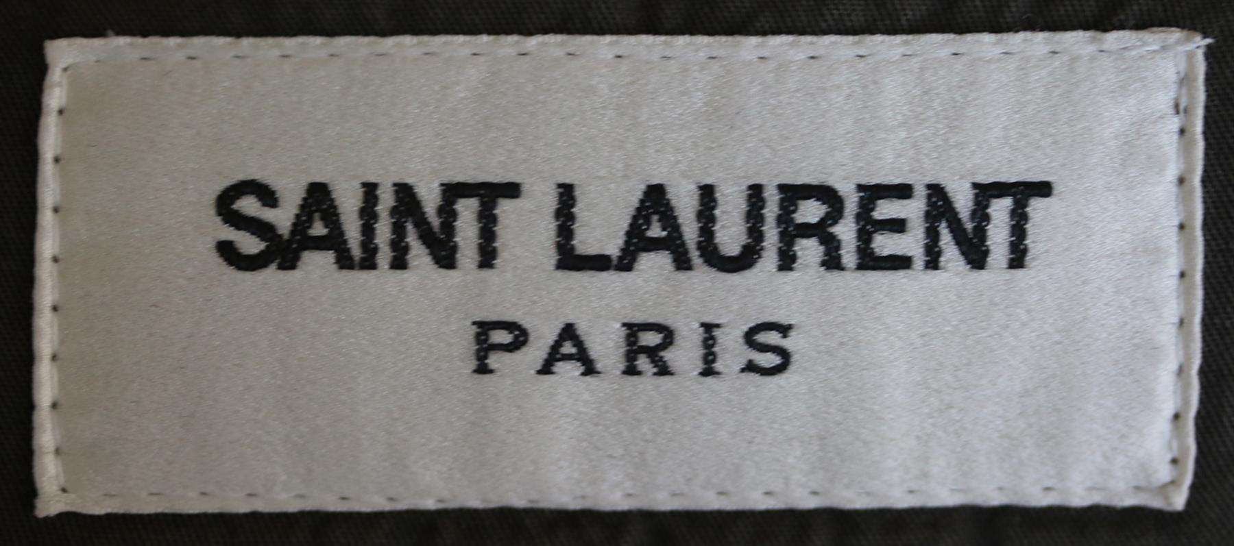 SAINT LAURENT HOODED COTTON TWILL MILITARY PARKA FR 38 UK 10