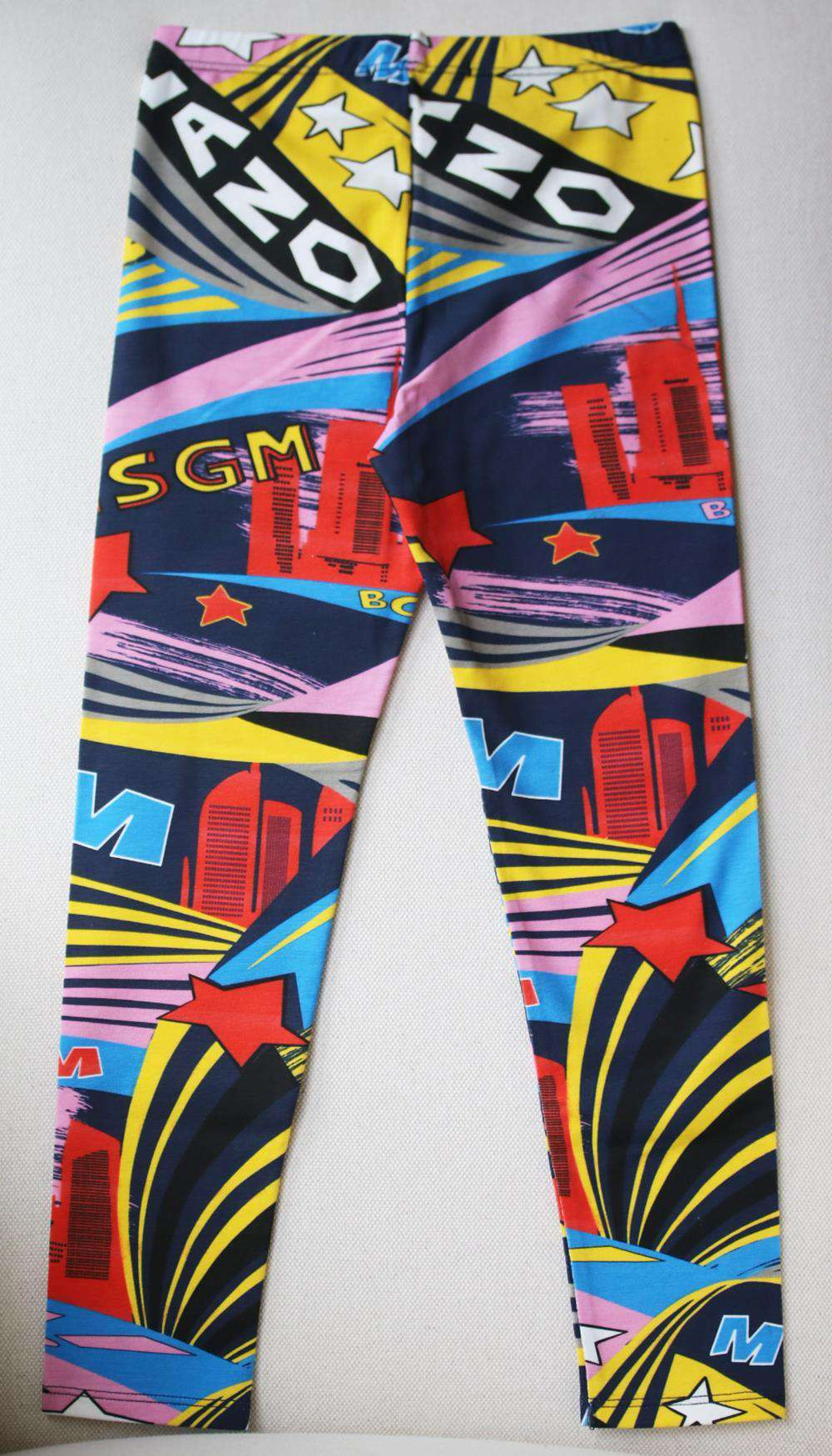 MSGM KIDS GIRLS PRINTED COTTON LEGGINGS 6 YEARS