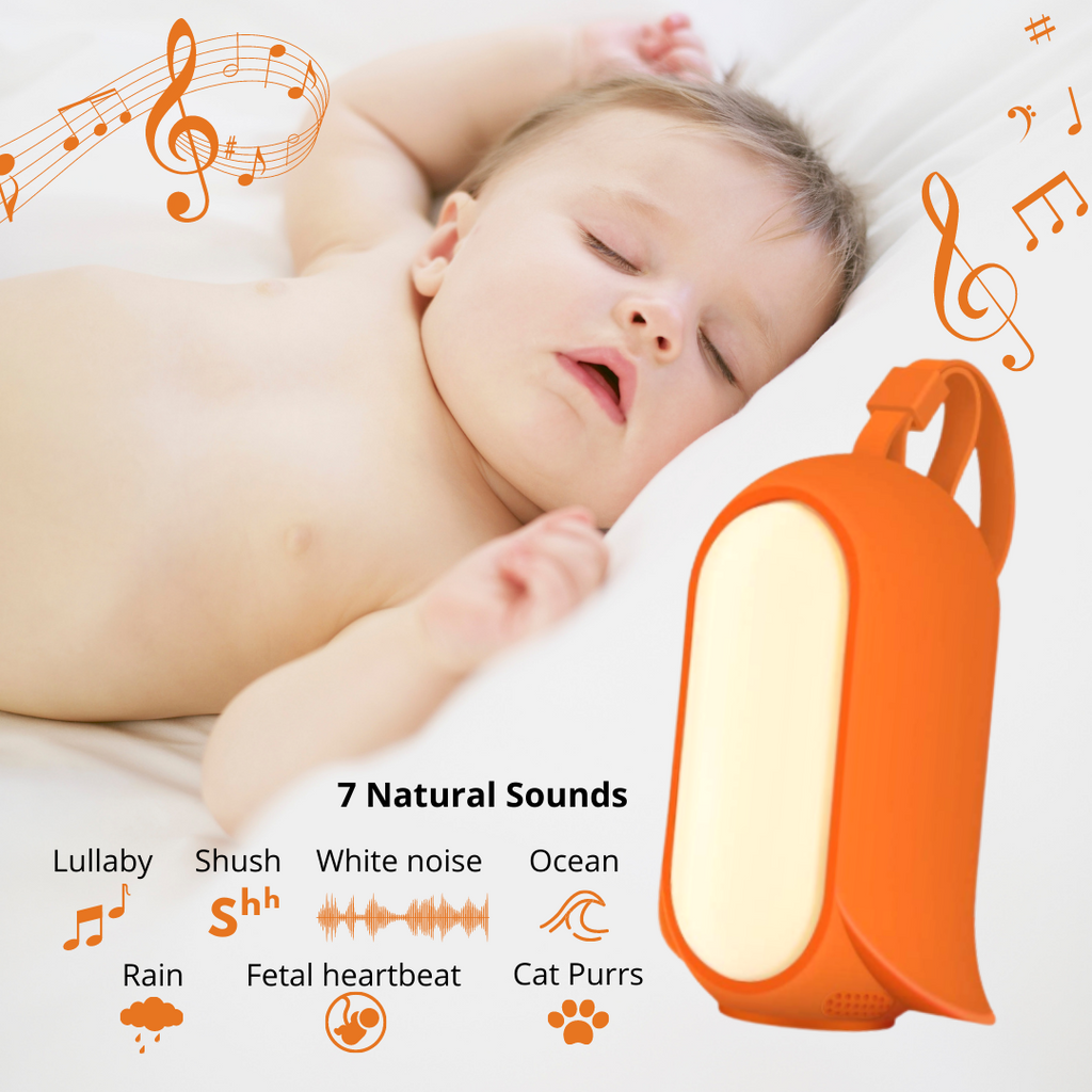Advanced Voice Sensor White Noise Machine & Night Light For Baby - Lumimoon