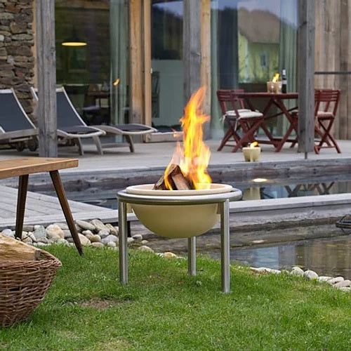 Feuerfreund Ceramic Fire Pit on stainless steel stand