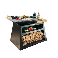 Load image into Gallery viewer, Quan Medium Island Wood Fire BBQ in Carbon colour