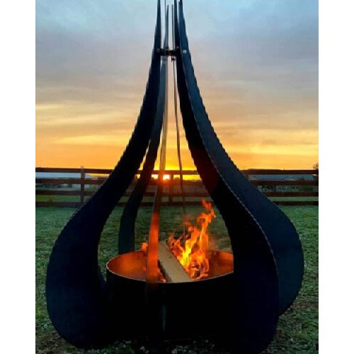 Teardrop Fire Pit - 110cm Diameter x 150cm Tall