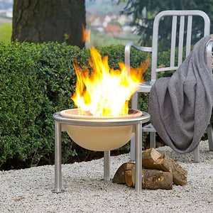 Feuerfreund Fire Pit with fire burning