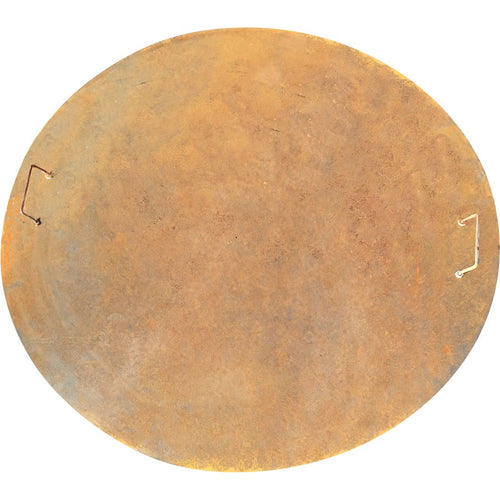 Fire Pit Lid with handles Rust Steel 125cm diameter