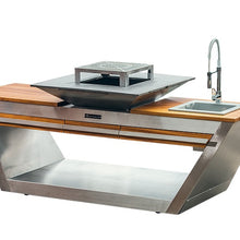 Load image into Gallery viewer, Quan Rolling Kitchen with Hot Plate
