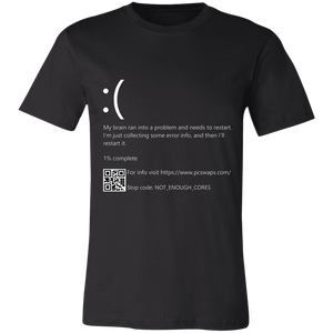 Blue Screen of Death Error Shirt