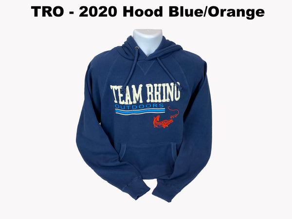 Team Rhino Outdoors - 2020 Show Hoodie Steel Blue/Orange Fish