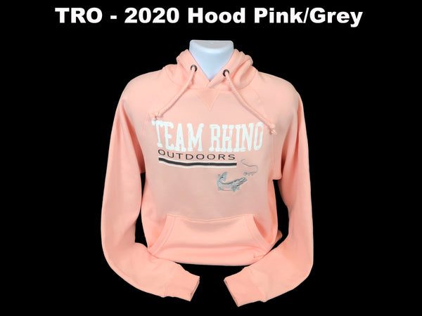 Team Rhino Outdoors - 2020 Show Hoodie Pink/White/Grey Fish