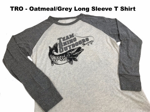 Team Rhino Outdoors - Oatmeal/Grey Long Sleeve T Shirt (Small Only)