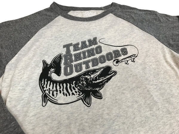 Team Rhno Outdoors - Oatmeal/Grey Long Sleeve T Shirt