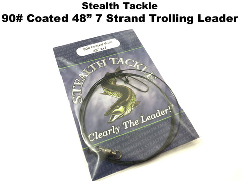 "Stealth Tackle - 90# Coated 7 Strand 48"" Trolling Leader 1 Pack (ST090C 48"")"