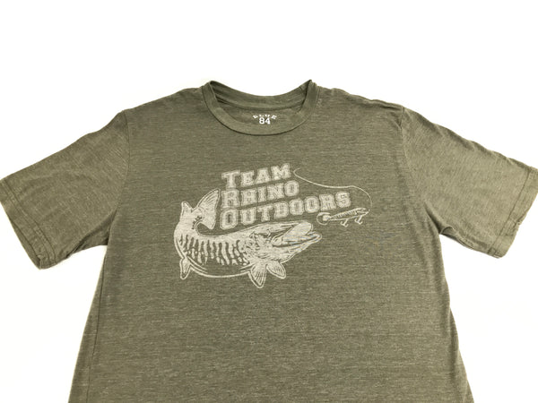 Team Rhino Outdoors  Forest Green Acid Wash Classic Logo T
