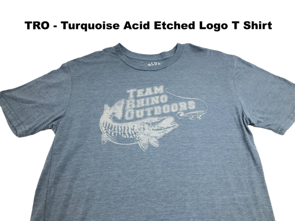 Team Rhino Outdoors Turquoise Acid Wash Classic Logo T