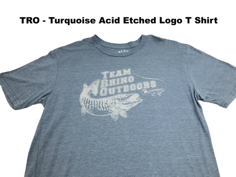 Team Rhino Outdoors Turquoise Acid Wash Classic Logo T (Small Only)