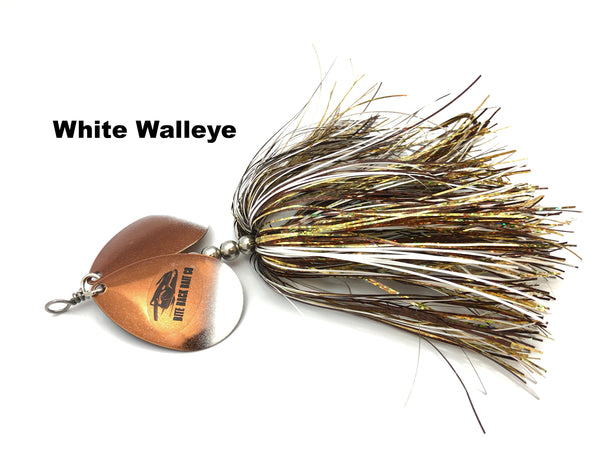 Bite Back Bait Company Mag Double 8's  - White Walleye