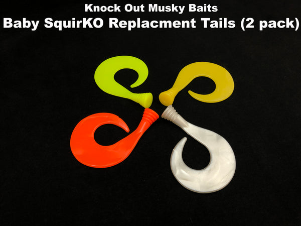 Knock Out Musky Baits Baby SquirKO Replacement Tails (2 pack)