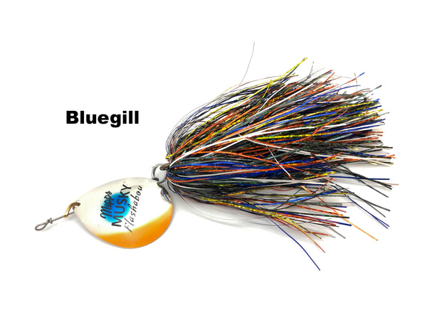 Mepps Musky Flashabou Baitfish Series Single Blade - Bluegill