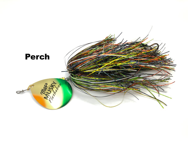 Mepps Musky Flashabou Baitfish Series Single Blade - Perch
