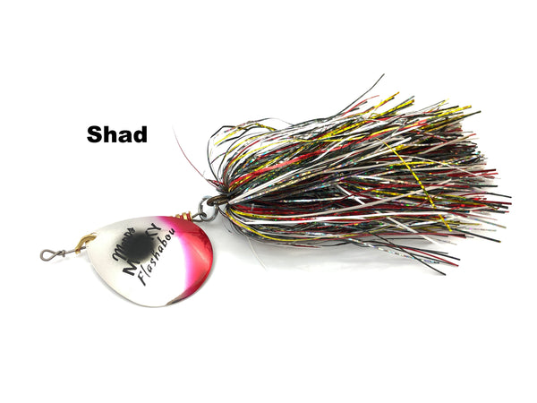 Mepps Musky Flashabou Baitfish Series Single Blade - Shad