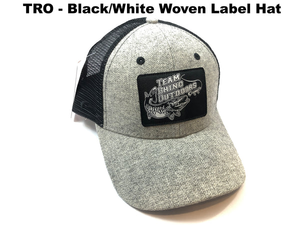 TRO Adjustable Grey/Black Mesh - Black/White Woven Label