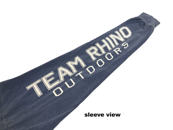 Team Rhino Outdoors Classic Power Musky Long Sleeve T Pac Blue (Small and Medium Only)