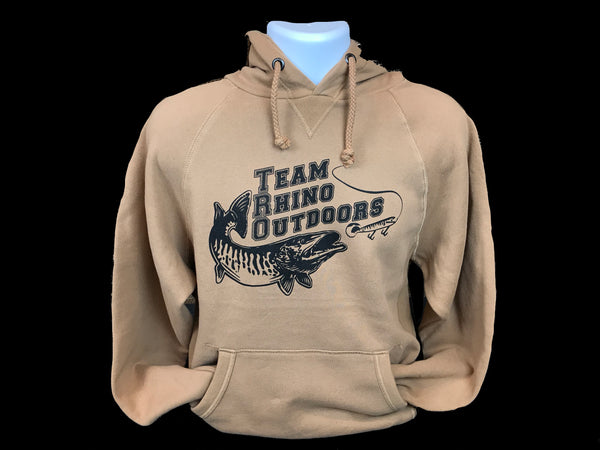 Team Rhino Outdoors - Russet Brown/Black Sanded Fleece Hoodie