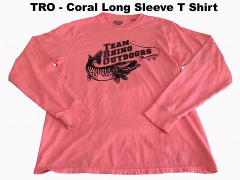 Team Rhino Outdoors  Coral/Black Long Sleeve Classic Logo T
