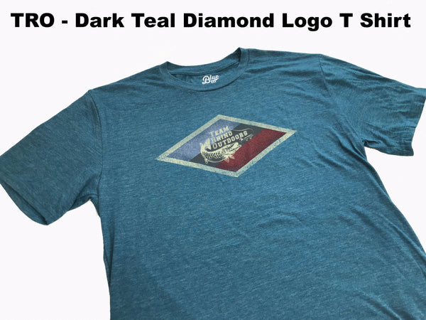 Team Rhino Outdoors - Dark Teal Diamond Logo T Shirt (Small Only)