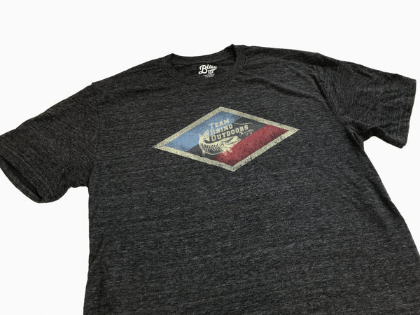 Team Rhino Outdoors - Charcoal Diamond Logo T Shirt