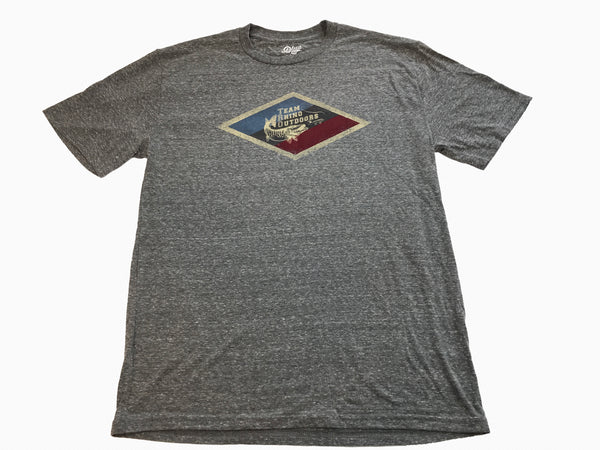Team Rhino Outdoors - Heather Grey Diamond Logo T Shirt