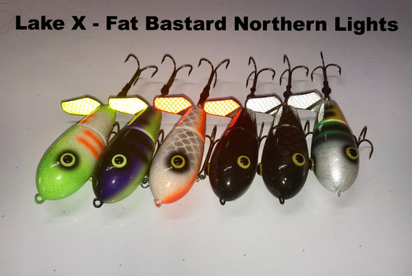Lake X Lures Fat Bastard Northern Lights Series