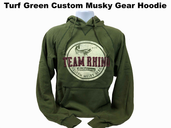 TRO - Turf Green Circle Custom Musky Gear Applique Logo Hoodie