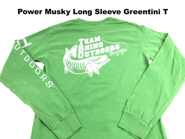 Team Rhino Outdoors Classic Power Musky Long Sleeve T Greentini (Small Only)