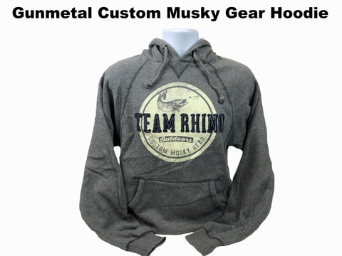 TRO - Gunmetal Circle Custom Musky Gear Applique Logo Hoodie