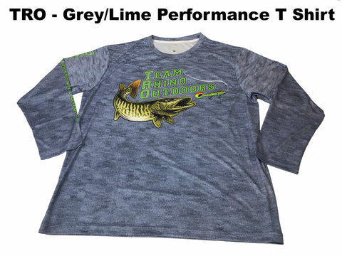 TRO - Grey/Lime Logo Long Sleeve Performance T