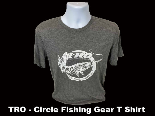 TRO - Grey Circle Fishing Gear T Shirt